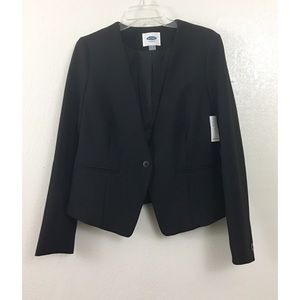 Old Navy One Button Front Black Blazer Jacket